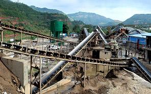 甘肃成县碎石制砂生产线