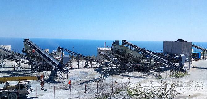 <strong>俄羅斯克里米亞移動破碎生產線石灰石加工項目</strong>