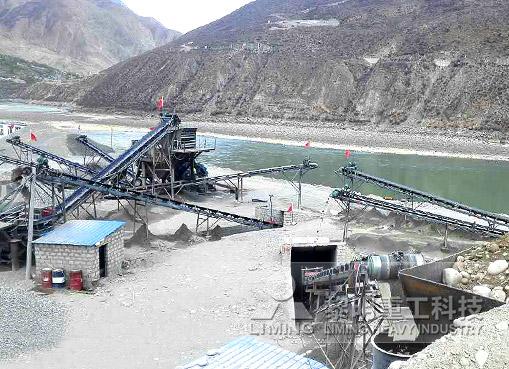 西藏郎县河卵石制砂生产线