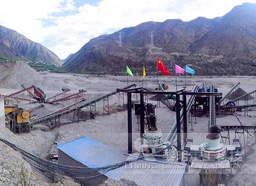 西藏昌都河卵石制砂生產線