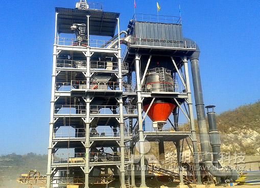 山西陽泉石灰石干法制砂生產線
