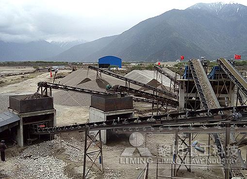 西藏林芝河卵石制砂生产线