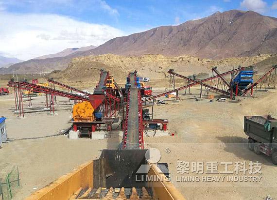 西藏日喀則頁巖破碎生產線